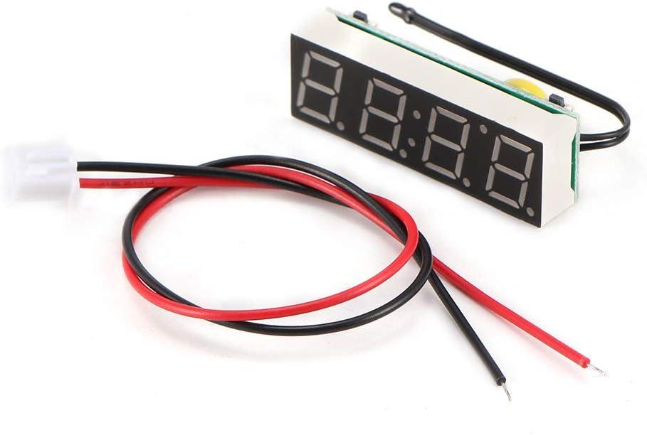 AOZBZ Mini Auto Digitaluhr Auto Elektrische Uhr Timer Thermometer Voltmeter Led-anzeige Auto Uhr