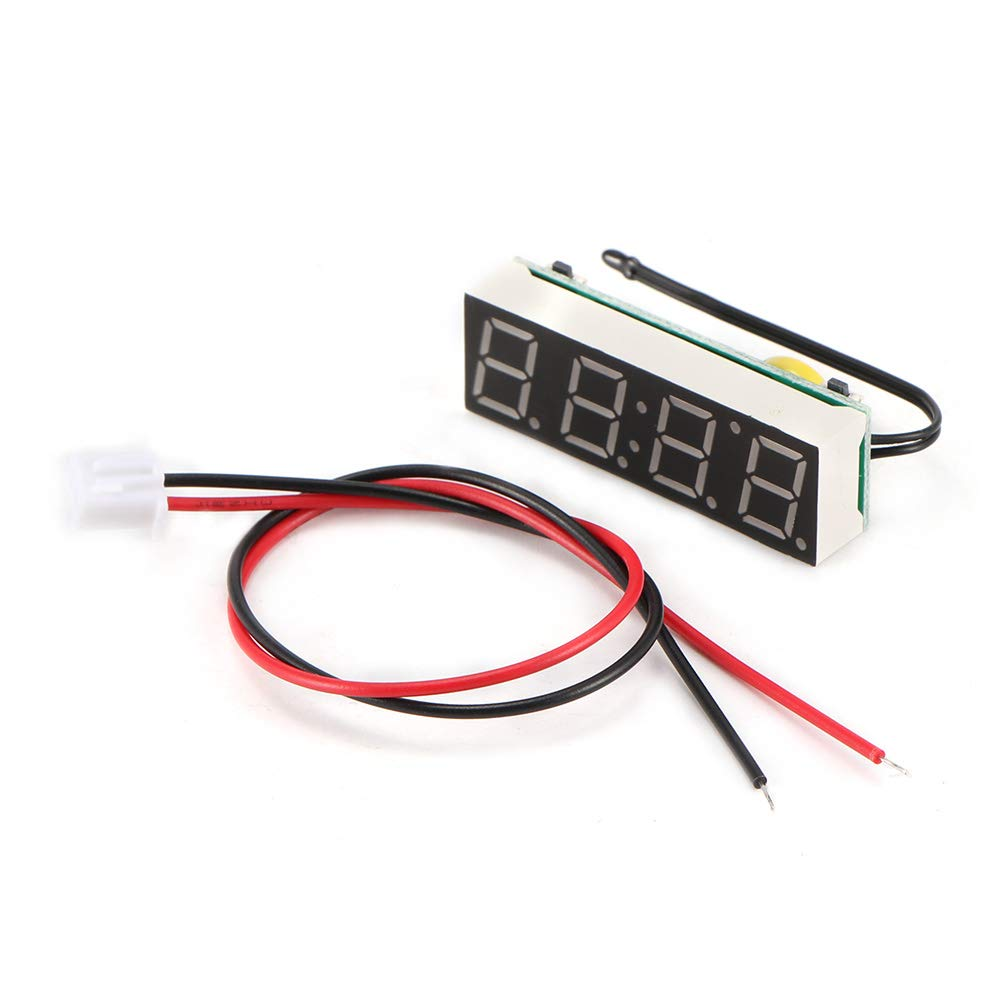 Voltmetro per Termometro Digitale per Auto con Display a LED ALLOMN Orologio Digitale per Auto Blu