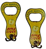 Manual Flea Market Apple Cider Metal Sign Towel Hooks IMSJAH Set of 2