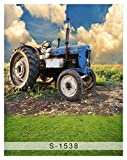6.5 Ft5 Ft Tractor Polyester Cotton Photo Background Customize Seamless Waterproof Printed Camera Photography Backdrop (200cm150cm)