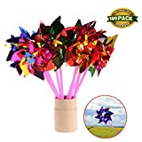 Johouse Pinwheels / Windmill Beach and Backyard Pinwheels for Kids Toy Garden Lawn Party Decor, 100 PCS