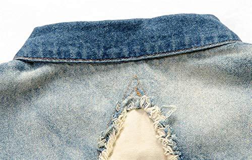 Essentiel En Métal Boucle Jean Slim Déchiré Vest Denim Sans Simple Manches Gilet Outwear Blau Coupe Pour Hommes qfTYOw