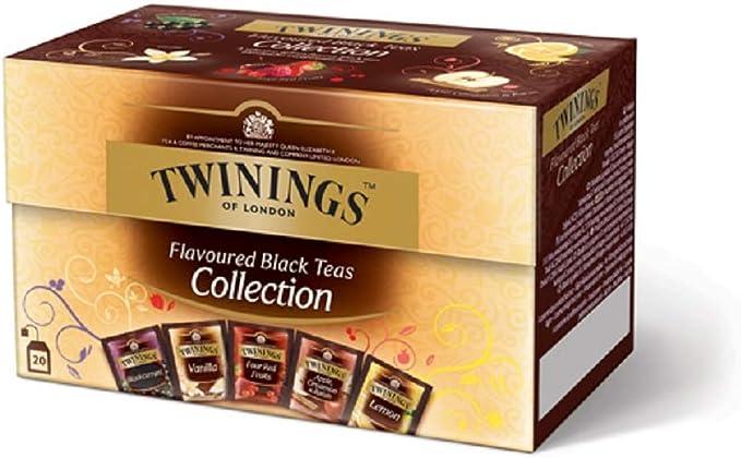 Twinings Tè Aromatizados - Colección - Precioso té Negro Aromatizado con Frutas, Flores, Especias y Esencias - Sabor Envolvente, Excelente tanto Caliente como Frio (40 Bolsas): Amazon.es: Alimentación y bebidas