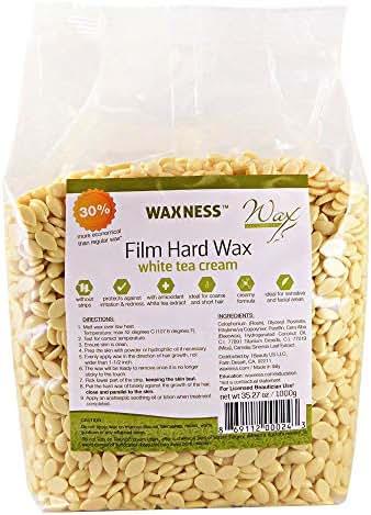 Wax Necessities Waxness Hard Wax Beads - White Tea Cream 35.27 oz/ 2.2 lb