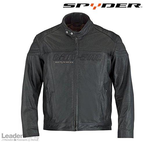 Can-Am Spyder Motorcycle New OEM Blake Leather Jacket Black Medium, 4406730690