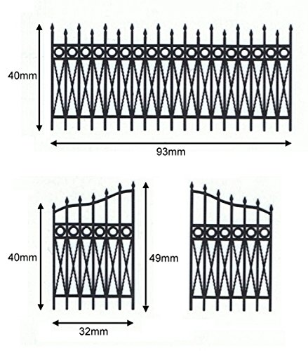 Reality In Scale 1:35 54mm Wrought Iron Fence Set 2 - Diorama Accessory #GL079