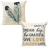 Decorative Pillow Cover - Pack of 2 Decorative Throw Pillow Covers 18 x 18 Cushion Cover for Home Décor
