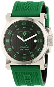 Swiss Legend Men's 40030-01-GRAS Sportiva Stainless Steel Watch with Green Band