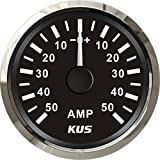 "KUS Ammeter AMP Gauge 50A With Current Pick-up Unit 52mm(2"") With Backlight"