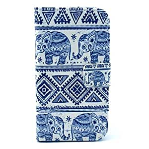 Elephant Tribal Carpet Pattern PU Leather Firm Case Cover with Stand and Card Slot for Motorola MOTO X