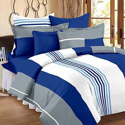 Ahmedabad 136 TC Cotton Double Bedsheet with 2 Pillow Covers - Multicolour