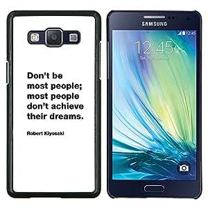 Freaks Crush Inspirar motivación de la cita- Metal de aluminio y de plástico duro Caja del teléfono - Negro - Samsung Galaxy A5 / SM-A500