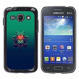 EJOY---Cubierta de la caja de protección la piel dura para el / Samsung Galaxy Ace 3 / --Estrella de 6 puntos