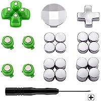 eXtremeRate Botones de dirección y acción Metal magnéticos