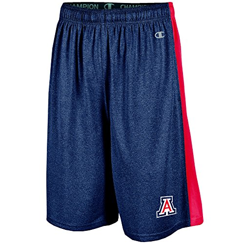 NCAA Arizona Wildcats Men's Heather Jersey Color Blocked Training Shorts, Xx-Large, Navy Heather