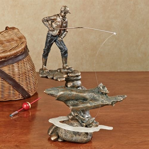 Touch of Class Fishing Man Sculpture Statue Figurine Fisherman Outdoor Enthusiast Gift ()