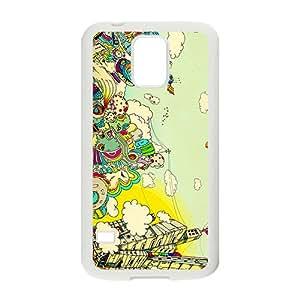 KORSE Creative Graffiti Town Custom Protective Hard Phone Cae For Samsung Galaxy S5