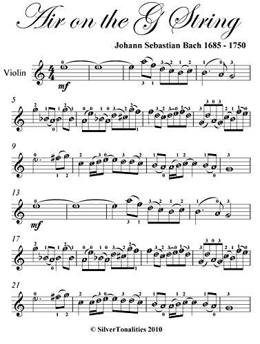 Air on the G String Bach Easy Violin Sheet Music (Bach Air On G String Violin Sheet Music)