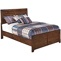 Ashley Furniture Signature Design - Delburne Casual Panel Bedset - Full Size Bed - Medium Brown
