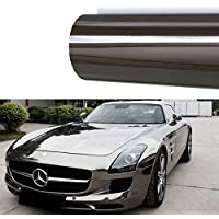 M J-AUTOPARTS Chrome Mirror Vinyl Film Wrap Sticker Decal...