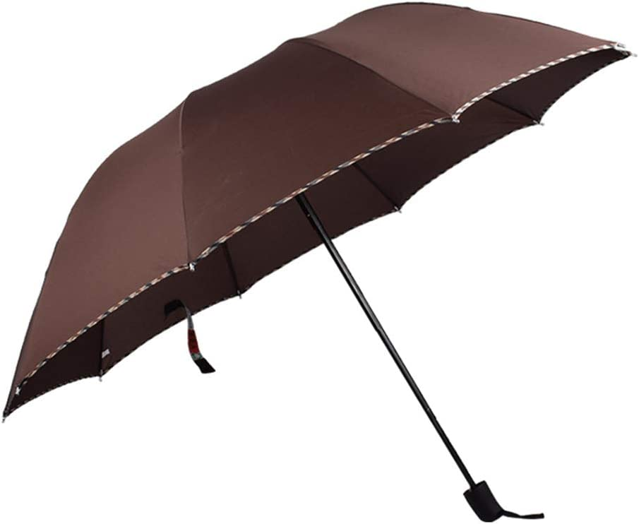 JUNDY Paraguas Compacto y Resistente al Viento, Paraguas Plegable, Conveniente para Viajes Paraguas Paraguas Tríptico Creativo colour2 100cm: Amazon.es: Hogar