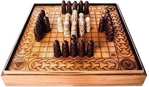 Norse Tradesman Handcrafted Viking Hnefatafl Set w/ Ox-Bone Game Pieces & Solid Teakwood Board   Tafl – The Viking Game