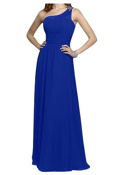 La novia de un-hombro de diseño de la Toscana de cristal vestidos de Gasa
