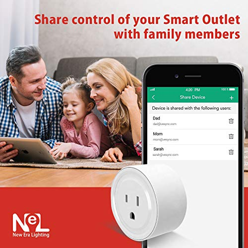 Mini Smart Outlet, Amazon Alexa & Google Assistant compatible, No Hub  Required, ETL Listed, 2 4GHz Wifi Enabled Remote Control Smart Socket