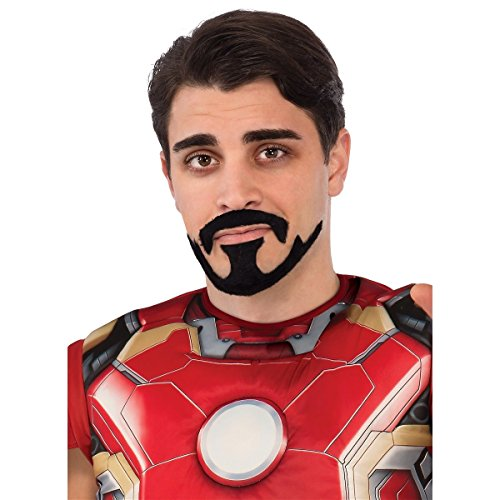 [Tony Stark Moustache & Goatee Costume Accessory Adult Mens Avengers Halloween] (Halloween Costume Ideas 2016 Men)