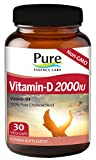 Pure Essence Labs Vitamin D 2000 IU Pure Essence Labs 30 Caps For Sale