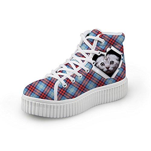 Knuffels Idee Klassiek Casual Geruite Schoenen Platform Sneakers Kat 4