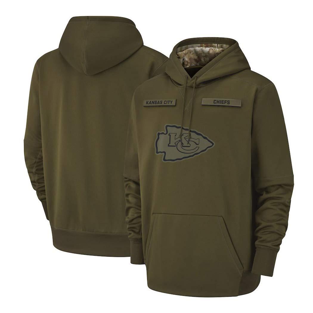 HYUsweat Sweatshirt for Kansas City Chiefs M/änner Im Freien Kapuzenpulli Pullover Armee-Gr/ün American Football Jersey Color : ArmyGreen, Size : S