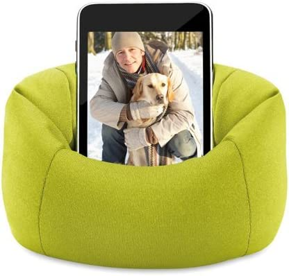 eBuyGB Universal Cute Cell Phone Smartphone Bean Bag Sofa Holder Desk Stand Lime Green