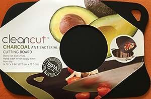 "Plastic Cutting Board, Antibacterial Charcoal, Cutting Mat, Chopping Board, Flexible, Nonslip, Size - 15"" x 10"""