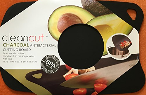 Plastic Cutting Board, Antibacterial Charcoal, Cutting Mat, Chopping Board, Flexible, Nonslip, Size - 15