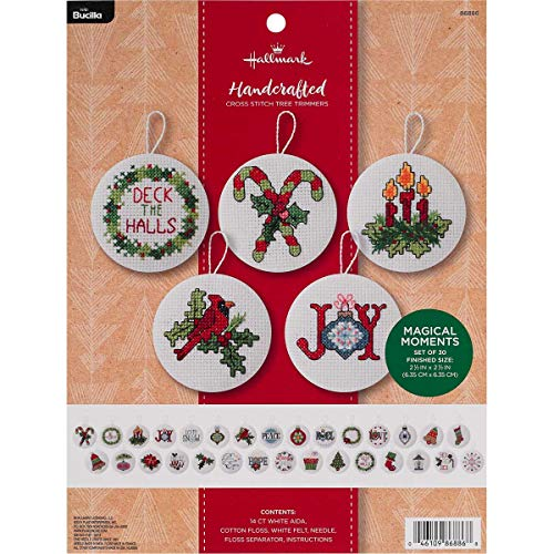 - Bucilla 86886 Hallmark 30 pc. Felt Ornament Kit, 2.5