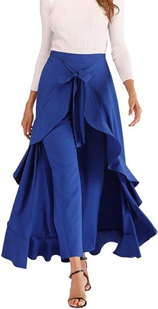 Mujer Largos Pantalones Falda Verano Elegante Moda Pantalones ...