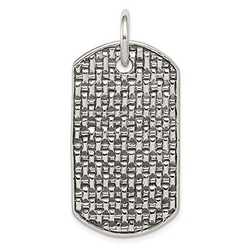 (925 Sterling Silver Dog Tag Pendant Charm Necklace Fine Jewelry Gifts For Women For Her)