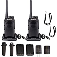 Retevis RT27 Outdoor Walkie Talkies FRS license-free 2 Way Radios for Family (Black,2pack)