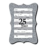 Big Dot of Happiness We Still Do - 25th Wedding Anniversary - Unique Alternative Guest Book - Anniversary Party Signature Mat