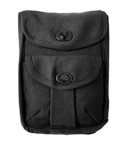 Rothco Black 2-Pocket Ammo Pouch