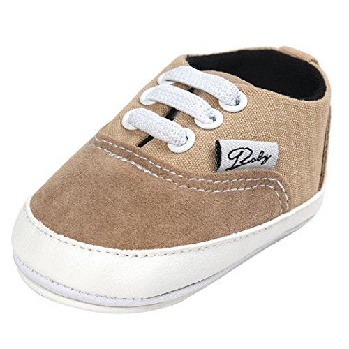 Tefamore BABY Zapatos bebé de lona de los muchachos del ocasionales Antideslizante Único de la zapatilla de deporte (12, Caqui)