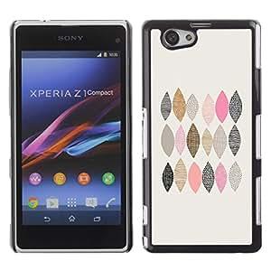 Be Good Phone Accessory // Dura Cáscara cubierta Protectora Caso Carcasa Funda de Protección para Sony Xperia Z1 Compact D5503 // Checkered Pattern Hand Drawn Minimalist