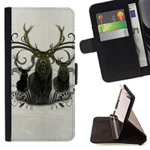 DEVIL CASE - FOR LG G3 - Deer Antlers Majestic Animal Northern - Style PU Leather Case Wallet Flip Stand Flap Closure Cover