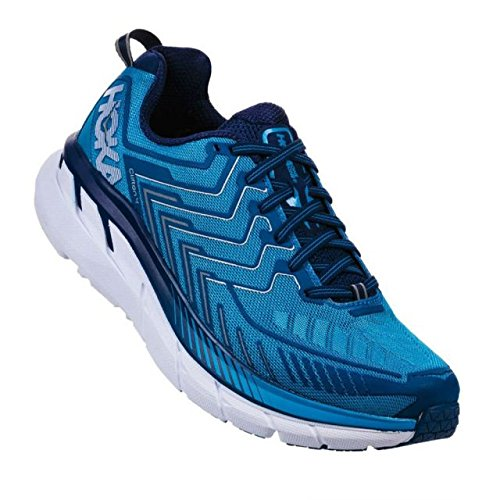 HOKA ONE ONE Men's Clifton 4 Running Shoe Diva Blue/True Blue Size 12 M US