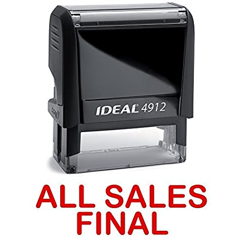 ALL SALES FINAL Red Stock Self-Inking Rubber Stamp - Products Rubber Stamp