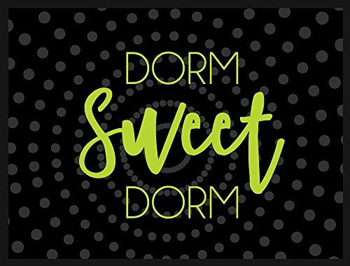 Welcome Mat - Indoor/Outdoor Doormat - Dorm Sweet Dorm with Neon - 24 x 18 Inch Front Door Mat