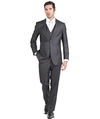 Tazio Mens Suit 2 Button 3 Piece Slim Fit at Amazon Men's Clothing ...