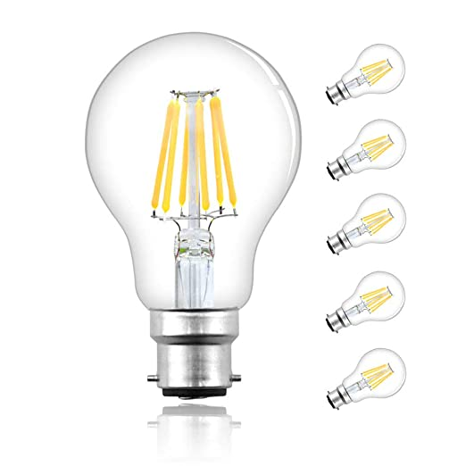 Philips LED Classic Dimmable Filament Warm White Light Bulb 8 W B22