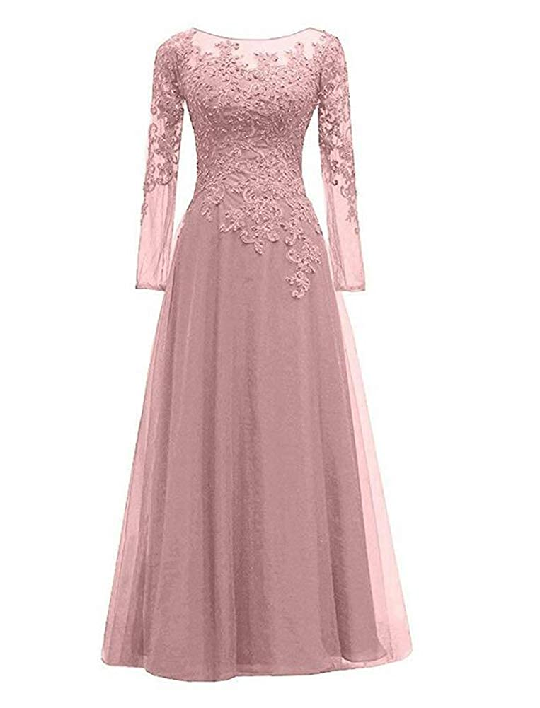 Dusty pink TOPG Women's Wedding Lace Mother of Bridesmaid Dress Evening Formal Party Ball Gowns